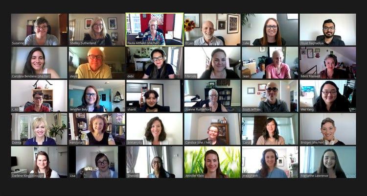Zoom team meeting